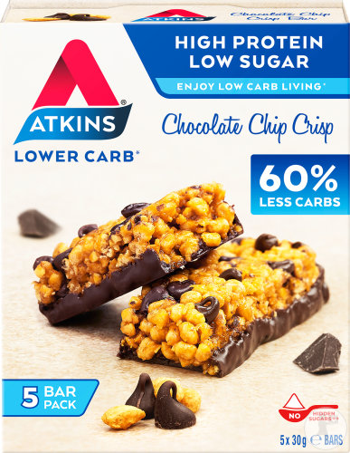 Atkins Chip Crisp Barre Chocolat Multipack 5x30g