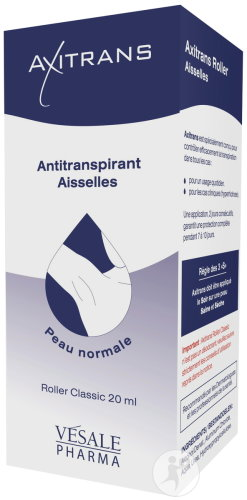 Axitrans Anti-Transpirant Aisselles Roller Classic 20ml