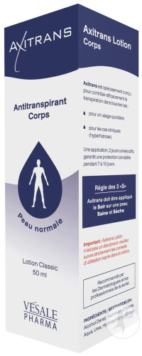 Axitrans Anti-Transpirant Lotion Classic Corps Peau Normale 50ml