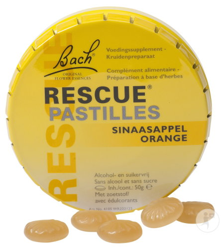 Bach Rescue Pastilles Orange Sans Sucre 50g