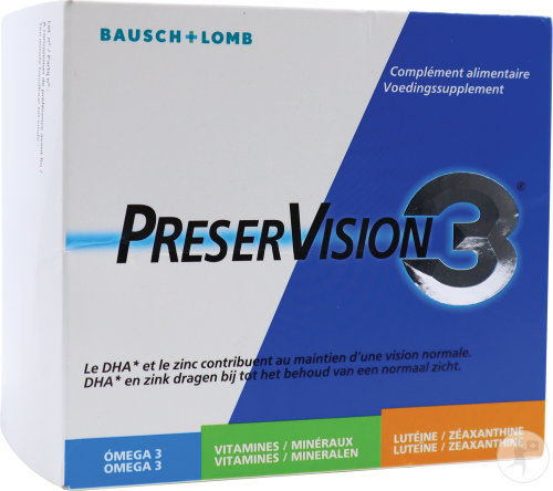 Bausch&Lomb PreserVision 3 Capsules 180