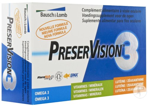 Bausch&Lomb Preservision 3 Capsules 60 Nouvelle Formule