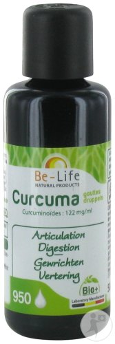 Be-Life Curcuma + Piperine Gouttes Bio Flacon 50ml