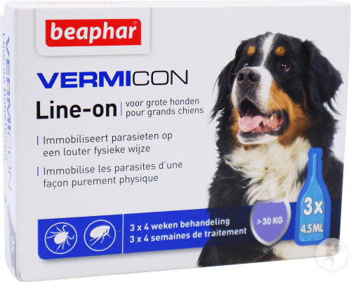 Beaphar Vermicon Line-On Pour Grands Chiens Doses 3x4,5ml