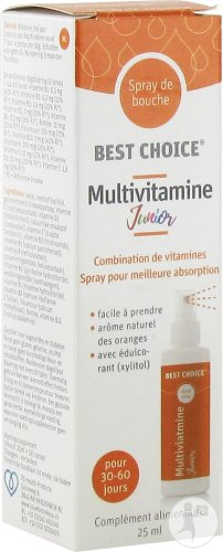 Best Choice Spray Bouche Multivitamine Junior 25ml