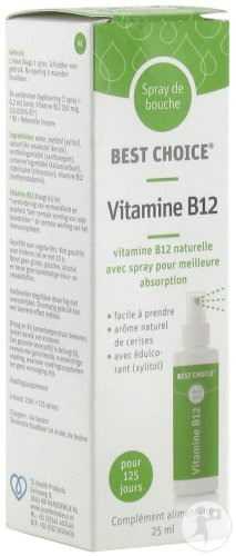 Best Choice Spray Bouche Vitamine B12 25ml