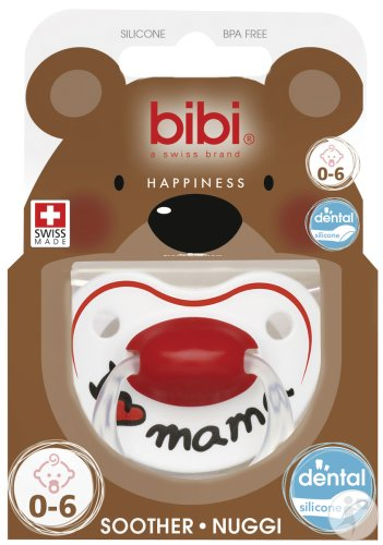 Bibi Sucette Happiness I Love Mama 0-6 Mois 1 Pièce