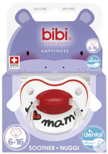 Bibi Sucette Happiness I Love Mama 6-16 Mois 1 Pièce