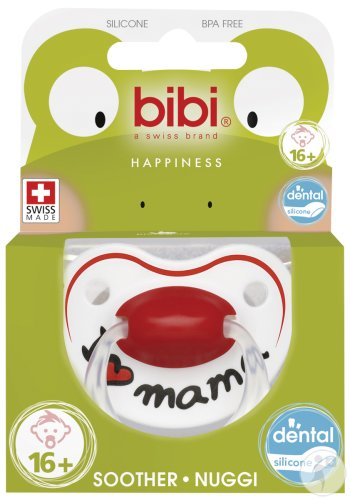 Bibi Sucette Happiness I Love Mama +16 Mois 1 Pièce