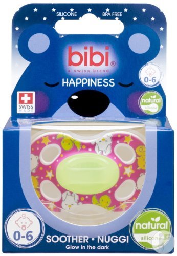 Bibi Sucette Happiness Natural 4 Friends Glow In The Dark 0-6 Mois 1 Pièce