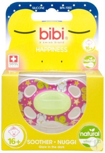 Bibi Sucette Happiness Natural 4 Friends Glow In The Dark +16 Mois 1 Pièce