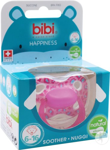 Bibi Sucette Happiness Natural Wild Baby 6-16 Mois 1 Pièce