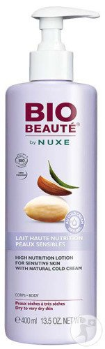 Bio Beauté By Nuxe Lait Haute Nutrition Au Cold Cream Naturel Corps Flacon Pompe 400ml