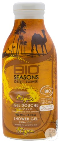 Bio Seasons Gel Douche Bio Sans Sulfate Argan Peaux Sensibles 300ml