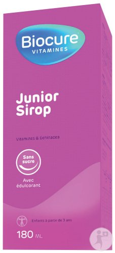 Biocure Junior Sirop Sans Sucre Flacon 180ml