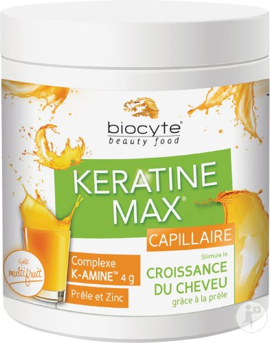 Biocyte Keratine Max Capillaire Goût Multifruit Doses 20x12g