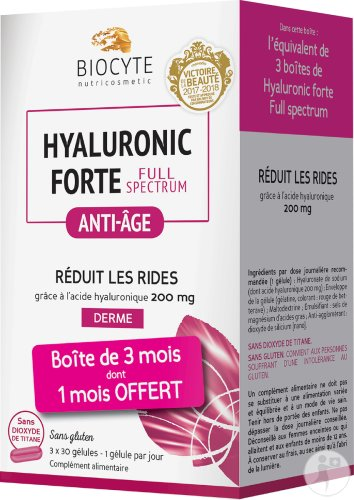 Biocyte Nutricosmetic Hyaluronic Forte Full Spectrum Anti-Âge 90 Gélules