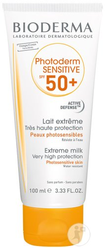 Bioderma Photoderm Sensitive IP50+ Lait Extrême Peaux Photosensibles Tube 100ml