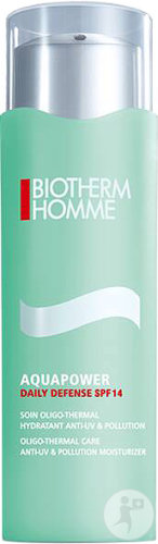 Biotherm Homme Aquapower Daily Defense IP14 Soin Oligo-Thermal Hydratant Anti-UV Et Pollution 75ml
