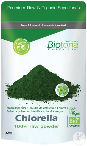 Biotona Chlorella 100% Raw Powder Bio 200g