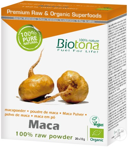 Biotona Maca 100% Raw Powder Bio 20x10g