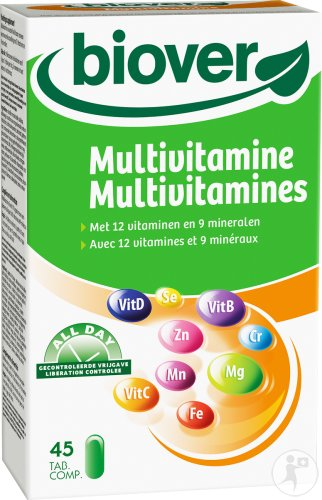 Biover All Day Multivitamines 45 Comprimés