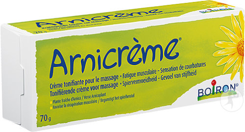 Boiron Arnicrème Courbatures Crampes Musculaire Fatigue Musculaire Douleur Musculaire Tube 70g