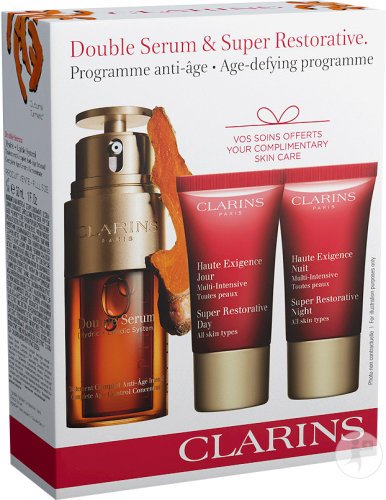 Clarins Coffret Double Sérum & Super Restorative Programme Anti-Age 1 Set