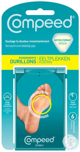 Compeed Pansement Durillons Pieds 6 Pièces