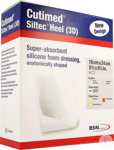 Cutimed Siltec Heel 3d 5pc