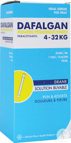 Dafalgan Pédiatrique Paracétamol 30mg/ml Solution Buvable 90ml