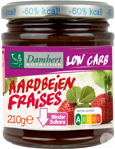 Damhert Low Carb Confiture Fraise Pot 210g