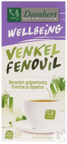 Damhert Tea Time Fenouil Infusion D'Herbes 20 Sachets