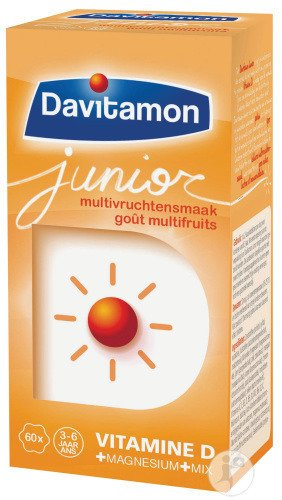 Davitamon Junior Multivitamines Goût Multi-Fruits 60 Comprimés A Croquer