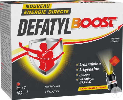 Defatyl Boost Énergie Directe Arôme Orange Sanguine Flacons 7x15ml