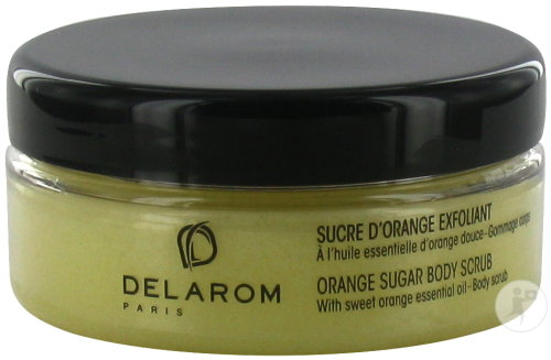 Delarom Sucre D'Orange Exfoliant Gommage Corps À L'Huile Essentiel D'Orange Douce Pot 150ml