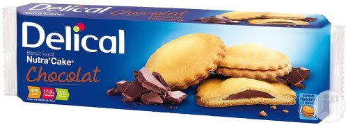 Delical Biscuit Fourré Nutra'Cake Chocolat 3 Sachets x 3 Biscuits