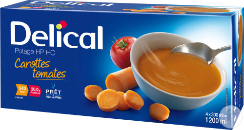 Delical Potage HP HC Carottes Tomates 4x300ml