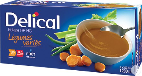 Delical Potage HP HC Légumes Variés 4x300ml