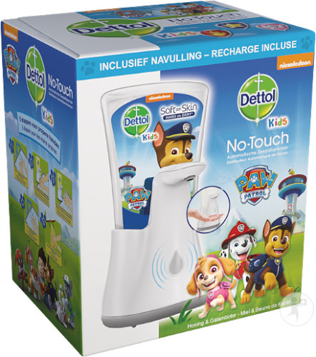 Dettol Kids Soft On Skin No-Touch Distributeur Automatique Savon + Recharge Paw Patrol 1 Pièce