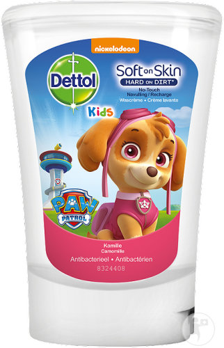 Dettol Kids Soft On Skin No Touch Recharge Crème Lavante Antibactérien Paw Patrol Rose 250ml