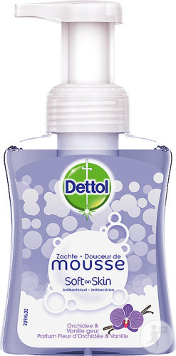 Dettol Soft On Skin Hard On Dirt Douceur De Mousse Antibactérien Fleur Orchidée Et Vanille 250ml