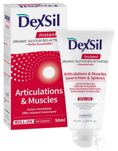 Dexsil Instant Articulations & Muscles Organic Silicium Bio-Activated + Huiles Essentielles Gel 50ml