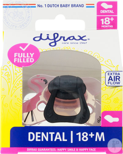 Difrax Sucette Silicone Dental Fille 18+ Mois (342)