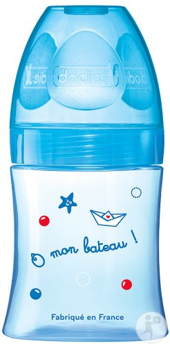 Dodie Biberon Initiation+ 0-6 Mois Tetine Debit 1 Bleu 150ml