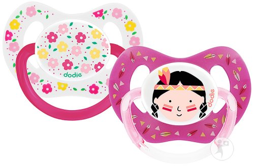 Dodie Duo Physio Sucette Silicone +18 Mois Fille Maman/Princess P51 Pièces 2