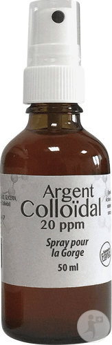 Dr. Theiss Argent Colloïdal Spray Gorge 20PPM Flacon Spray 50ml