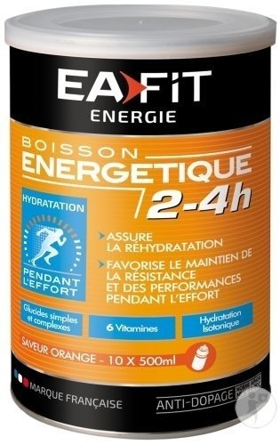 EA Fit Boisson Energétique 2-4h Goût Orange Sanguine Pot 500g