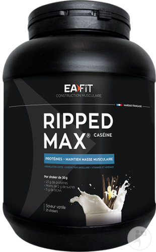 EA Fit Construction Musculaire Ripped Max Caseine Vanille Pot 750g
