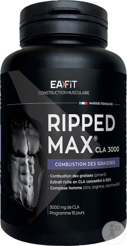 EA Fit Construction Musculaire Ripped Max CLA 3000 Capsules 60